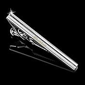 patrón de bandas de metal de plata de los hombres de regalo personalizado grabado el clip de lazo (a menos de 10 caracteres)