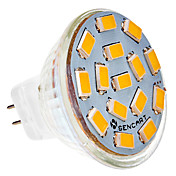 1.5W 150-200 lm G4 Focos LED MR11 15 leds SMD 5730 Blanco Cálido DC 12V