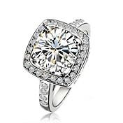 claic lady '2.5ct claro anillo de bodas de diamante estilo elegante