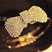 Lleno de cristal de la pulsera del brazalete del Bowknot