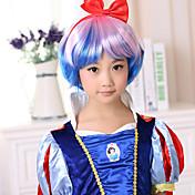 아동 여성 인조 합성 가발 컬리 코스튬 가발