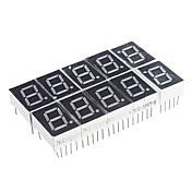 10-Pin 7-Segment Red LED display Common Cathode (10 stk)