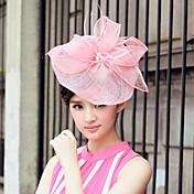 lin og tyll bryllup / spesiell anledning / uformell hatter med bowknot (flere farger)