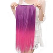 Resistencia a altas temperaturas en dos tonos de 20 pulgadas de largo derecho postizo 5 Clip de Extensión 11 colores disponibles