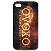 Ovoxo 10 월달 너만의 패턴 아이폰 4/4S를위한 플라스틱 단단한 케이스