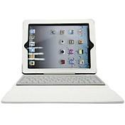 Etui Til iPad 4/3/2 med stativ med tastatur Flipp Heldekkende etui Helfarge Hard PU Leather Silikon til