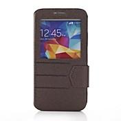 용 삼성 갤럭시 케이스 윈도우 / 플립 케이스 풀 바디 케이스 단색 인조 가죽 Samsung S5