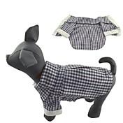 Gato Perro Camiseta Ropa para Perro Casual/Diario Ajedrez Negro Disfraz Para mascotas