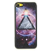 Gleamy Triángulo en el patrón Universo Shimmering PC caso duro para el iPhone 5C