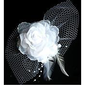 Moda Novia Net Yarn flor del tocado de la horquilla
