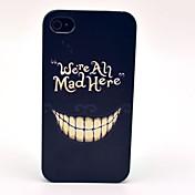 악 미친 미소 패턴 아이폰 4/4S를위한 단단한 덮개 케이스