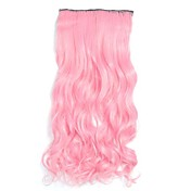 Klassisk Hairextensions med menneskehår Rosa Klassisk Høy kvalitet Daglig