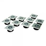 Conjunto de 8 acero inoxidable LED blanca de acero inoxidable solares Decking Lights