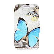 Funda Para Nokia Lumia 520 / Nokia Funda Nokia Soporte de Coche / Flip Funda de Cuerpo Entero Mariposa Dura Cuero de PU para