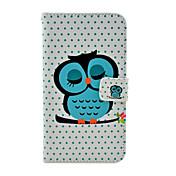 Dormir Cartoon Owl Estuche blando cuero del patrón del cuerpo completo con soporte para Samsung Galaxy Nota 3 N9000