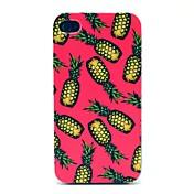 아이폰 4/4S를위한 분홍색 배경 파인애플 패턴 하드 케이스