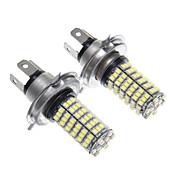 LED H4 120x3528SMD luz blanca de la bombilla del faro (2 unidades)