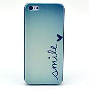 Modelo de mariposa Sonrisa duro caso para iPhone 5C
