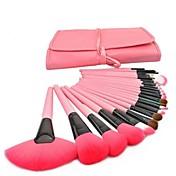 24pcs Pinceles de maquillaje Profesional Sistemas de cepillo Pincel de Poni / Pincel de Nylon / Pelo Sintético Pincel Grande