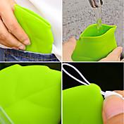 1 unid portátil hoja estilo bolsillo taza ambiental verde llevar taza