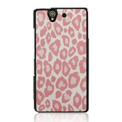 Leopard Print Leather Vein Pattern Hard Case for Sony Xperia Z/L36h