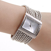 Dame Armbåndsur Moteklokke Japansk Quartz Hverdagsklokke Kobber Band Luksus Glitrende Elegant Sølv