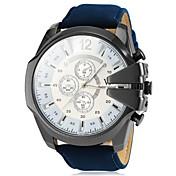 V6 Hombre Cuarzo Reloj de Pulsera Reloj Militar Reloj Casual PU Banda Encanto Negro Marrón Verde Azul marino