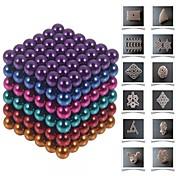 Magnetiske leker Byggeklosser Neodym-magnet Magnetiske kuler Buckballs 216pcs 5mm Magnet Magnetisk Leketøy Gave