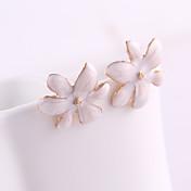 스터드 귀걸이 크리스탈 에나멜 합금 Flower Shape 보석류 용 일상