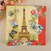 servilletas del patrón de la torre Eiffel (juego de 20)