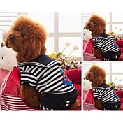 Perro Camiseta Ropa para Perro Rayas Negro Rojo Algodón Material Mixto Disfraz Para mascotas
