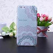 Para Funda iPhone 6 / Funda iPhone 6 Plus En Relieve Funda Cubierta Trasera Funda Flor Dura PolicarbonatoiPhone 6s Plus/6 Plus / iPhone