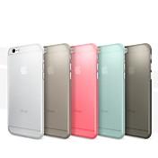 Etui Til Apple iPhone 6 iPhone 6 Plus Ultratynn Matt Bakdeksel Ensfarget Hard PC til iPhone 6s Plus iPhone 6s iPhone 6 Plus iPhone 6