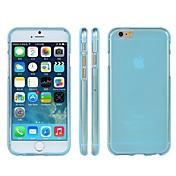 moler caso del tpu transparente arenosa cubre para el iPhone 6 Plus caso de 5.5 pulgadas (colores surtidos)