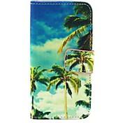 patrón de cielo azul cuero de la PU caso de cuerpo completo con soporte para i9500 de Samsung s4