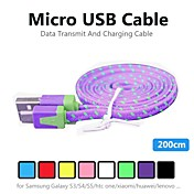 Micro USB 2.0 Adaptador de cable USB Normal Cable Para CLORURO DE POLIVINILO