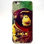 espacio chimpancés caso suave patrón del tpu para el iphone 6