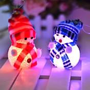 10 * 6cm elektronisk ledet jul snømann