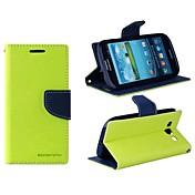 Para Funda Samsung Galaxy Soporte de Coche / con Soporte / Flip Funda Cuerpo Entero Funda Un Color Cuero Sintético Samsung S3