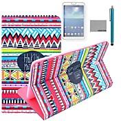 Coco Fun® patrón alfombra roja tribal del caso del soporte del tirón del cuero de la PU con el cine y la aguja para el samsung galaxy tab 4 t330