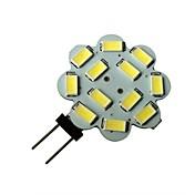 1.5W 6000-6500 lm G4 Focos LED 12 leds SMD 5630 Blanco Natural DC 12V