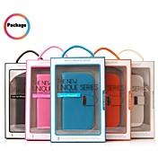 promoción siete wei casos de cuero teléfono de la serie para el iPhone 4 (colores surtidos)