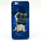 casquillo del patrón perro caso de la cubierta dura feliz por 5c iphone