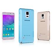 용 Samsung Galaxy Note 울트라 씬 / 투명 케이스 뒷면 커버 케이스 단색 TPU Samsung Note 4