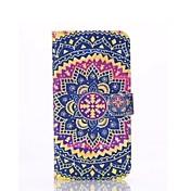 patrón de estilo popular textil caso de cuerpo completo con soporte y tarjeta de ranura para iPhone6 más