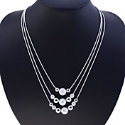 Mujer Collar de hebras - Plata de ley, Plata Serpiente Moda Plata Gargantillas Para Fiesta, Diario, Casual