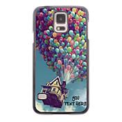caja del teléfono personalizado - caso del diseño del metal de balón para i9600 Samsung Galaxy S5