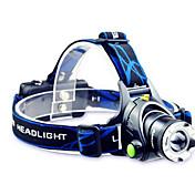 TD286 Hodelykter LED 800lm med batterier og lader Zoombare / Justerbart Fokus / Oppladbar Camping / Vandring / Grotte Udforskning /