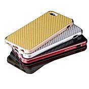 overskudd wind®luxury høy kvalitet aluminium metall karbonfibermateriale dekke case for iphone 6 pluss (assorterte farger)
