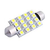 gc® 42mm 4w 200lm 6000K 16x3528 SMD 흰색 자동차 읽기 / 번호판 / 도어 램프 용 LED (DC12V)